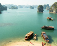 Halong Bay, spectacular sea karst landscape