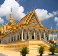Phnom Penh, the Royal Palace - city's top attraction