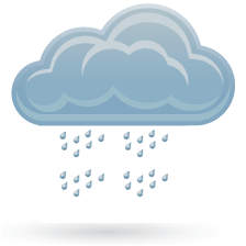 Light rain. Mostly cloudy. Mild.