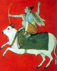 Kolkata . Indian Museum, painting of Siva
