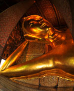 Bangkok - The statue of Reclining Buddha