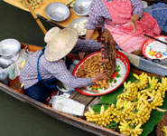 Bangkok - shopping at a floating market