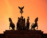 Berlin - Brandenburg Gate, statue of victory