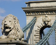 Budapest - the Chain Bridge, city's most famous landmark