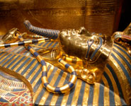 Cairo - Egyptian Museum - the Tutankhamun golden death mask, museum's top attraction