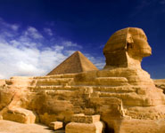 Cairo - the Great Pyramid and the Sphynx
