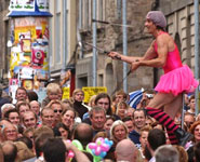Edinburgh- the Fringe Festival, record-breaking festival in the heart of city.