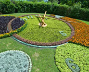 Geneva - the famous flower clock in Jardin Anglais