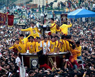Manila - Feast of the Black Nazarene, a huge religious clebration