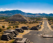 Mexico City, Teotihuacan, a mysterious ancient pyramid complex