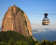 Rio de Janeiro - Sugar Loaf Mountain, a stunning granite peak towering over the city