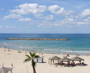 Tel Aviv - the city has very popular beaches during summer