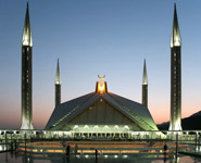 Islamabad - the largest mosque in Pakistan