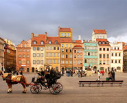 Warsaw - the Old Town is a major tourist attraction