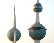 Kuwait - Kuwait Towers, city's top attraction